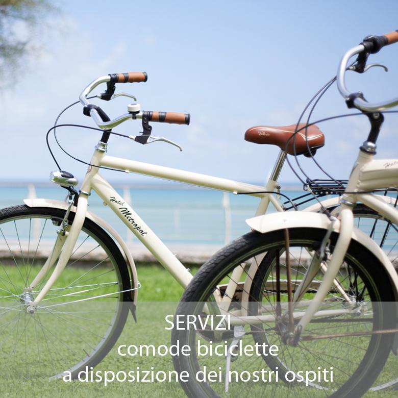 Hotel 3 stelle Pesaro servizio biciclette