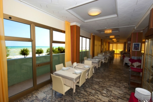 Hotel Metropol, sala ristorante con vista panoramica