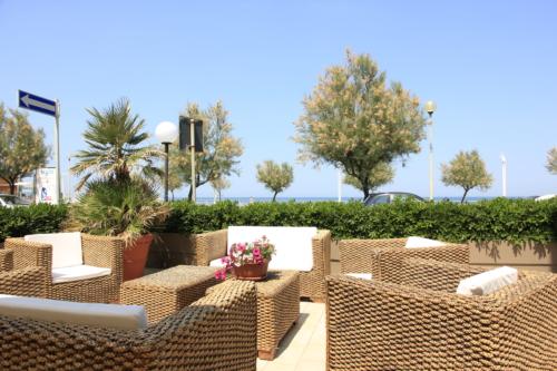 Hotel Metropol, zona relax esterna